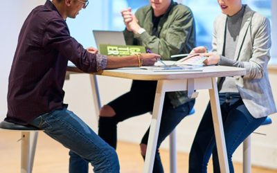 PopUp™ from Haworth: Designer Height-Adjustable Tables that Help Your People Perform Their Best